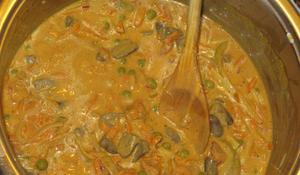 KROK IV - Przygotowanie curry z podrobów