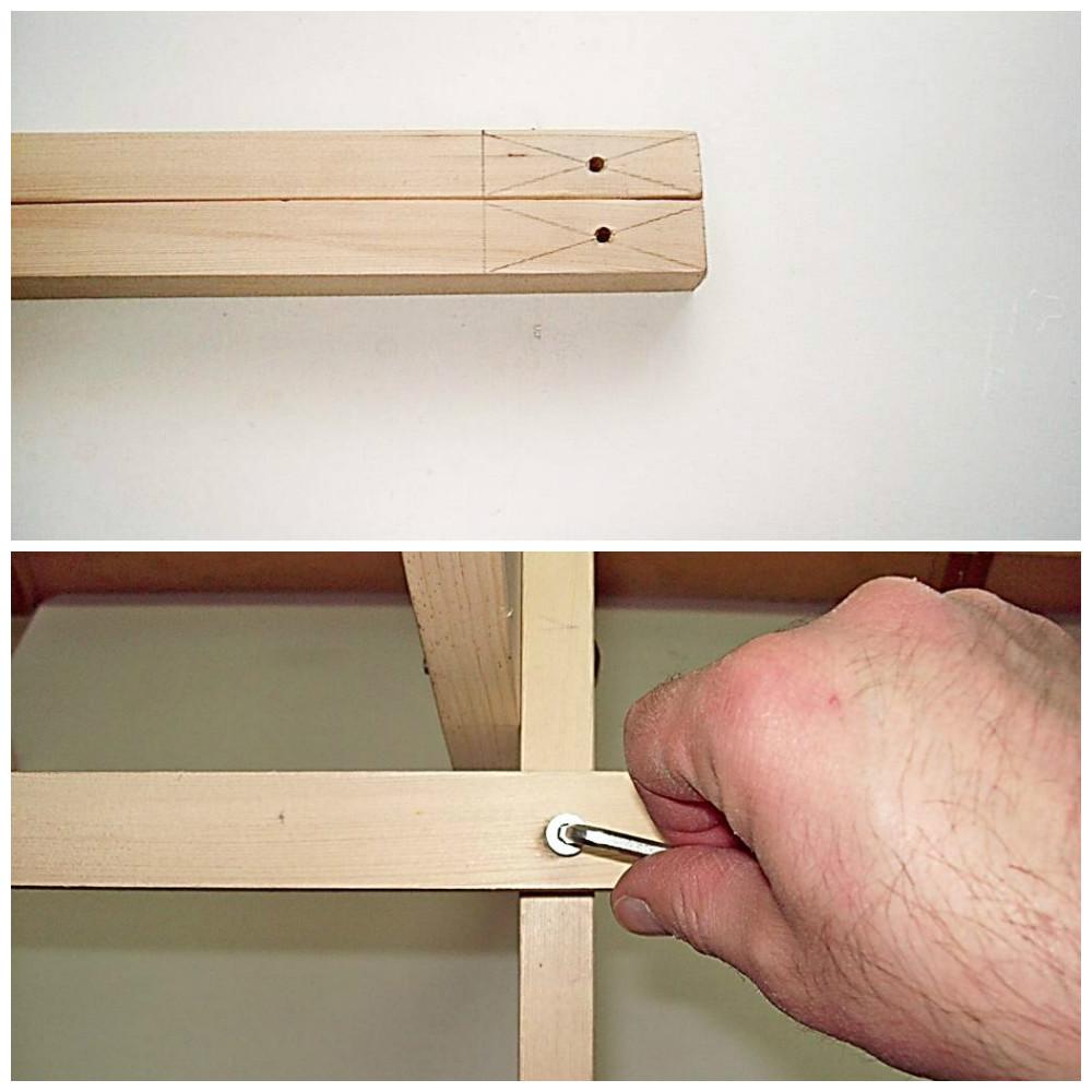 KROK V – Przykręcanie kątowników podtrzymujących siedzisko i oparcie